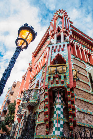 Antoni Gaudis designed Vicens House in Barcelona Spain
