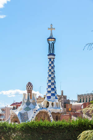 Park Guell in Barcelona Spain Editorial