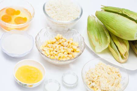 Colombian Sweet Corn Wrap Preparation 写真素材
