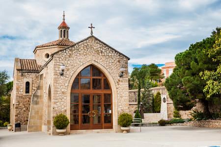 Chapel of Saint Joseph at the Sanctuary of Saint Joseph of the Mountain esplanade Stock Photo