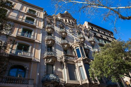 Casa Comalat in Barcelona Spain Editorial
