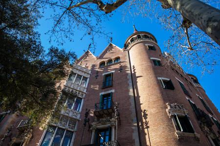 House of the Punxes in Barcelona Spain Stock Photo