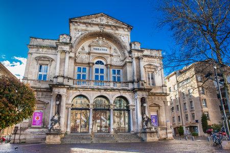 AVIGNON - MARCH, 2018: Opera Grand Avignon Theatre at Place de lHorloge in Avignon France Editorial