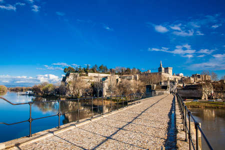 AVIGNON, FRANCE - MARCH, 2018: Famous Avignon Bridge also called Pont Saint-Benezet at Avignon France