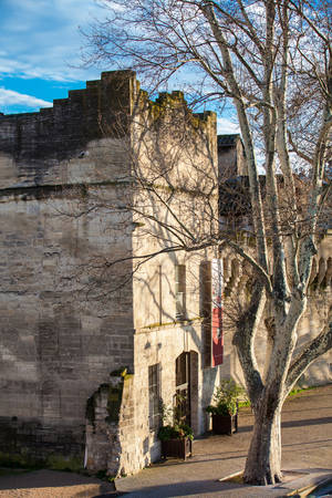 Medieval built Avignon walled city