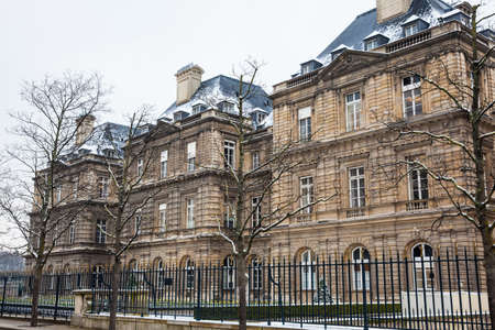 The Luxembourg Palace in a freezing winter day day just before spring
