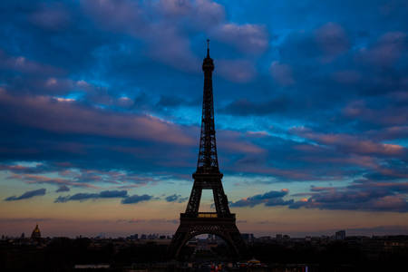 Eiffel Tower in Paris, France stock photography Eiffel Tower in Paris, France Archivio Fotografico