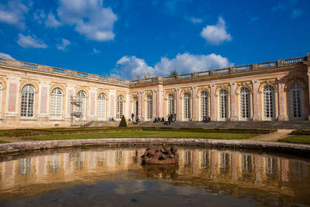 The Grand Trianon at the Versailles Palace in a freezing winter day just before spring