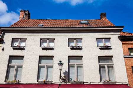 Traditional architecture of the historical Bruges town Stock Photo