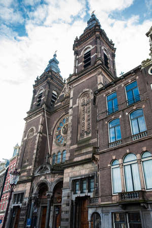 Basilica of Saint Nicholas at the Old Center district in Amsterdam Editorial