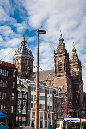 Basilica of Saint Nicholas at the Old Centre district in Amsterdam Editorial