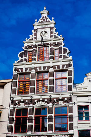 Beautiful building at the Old Central district in Amsterdam