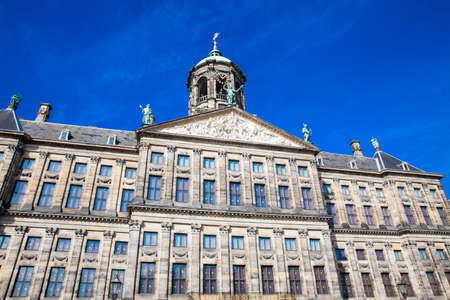 Detail of the Royal Palace of Amsterdam located at Dam Square