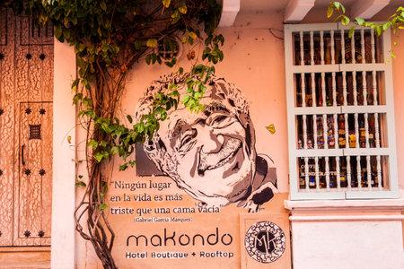 Facade of the Makondo hotel in the walled city of Cartagena de Indias
