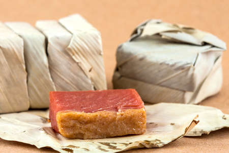 Traditional Colombian sweet from the Velez town in Santander called Bocadillo