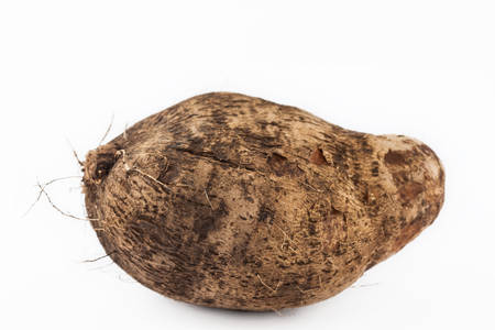 Yam (Dioscorea spp) isolated in white background Stock Photo