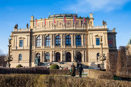 Rudolfinum a neo-renaissance style building situated on Jan Palach Square at the old town in Prague opened to the public in 1885