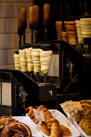 Trdelnik and other traditional pastry products Editorial