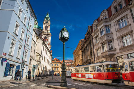 Beautiful corner at the old town of Prague in a beautiful early spring day