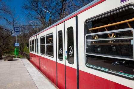 The famous Budapest Cogwheel Railway a historic public transport first opened in 1874 Zdjęcie Seryjne - 122442794