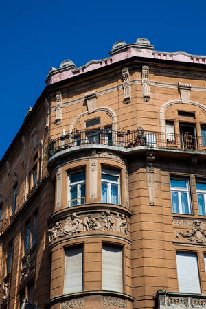 Beautiful architecture of the buildings at Budapest city center