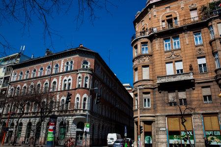 Beautiful architecture of the buildings in Budapest city center Redakční