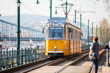 View of the Budapest city center and tram Zdjęcie Seryjne - 122738442