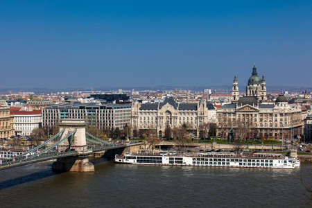 View of the Pest bank of Budapest city Publikacyjne