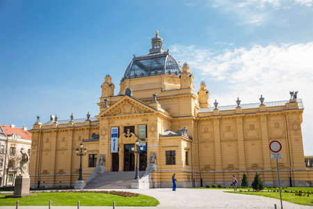 The historical Art Pavilion building in Zagreb capital of Croatia Publikacyjne