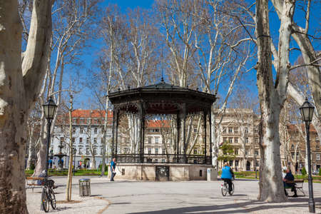 Zrinjevac park the oldest of the lower town in Zagreb capital of Croatia Editorial