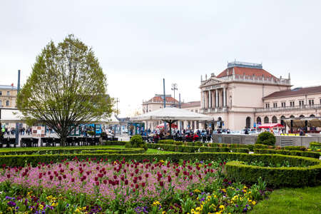 View of the beautiful lower town in Zagreb city Publikacyjne