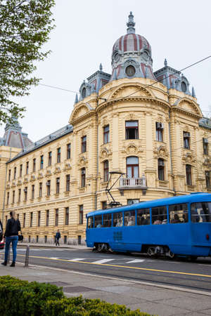 View of the beautiful architecture of the lower town in Zagreb city