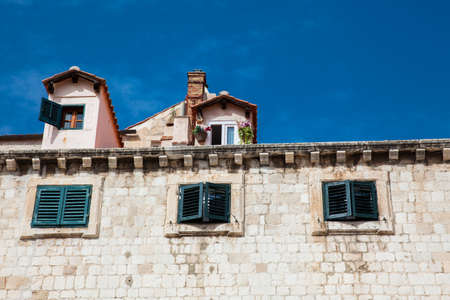 Beautiful architecture of the houses at Dubrovnik old town
