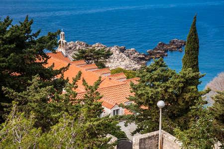 Beautiful Dubrovnik coast seen from the Gradac Park