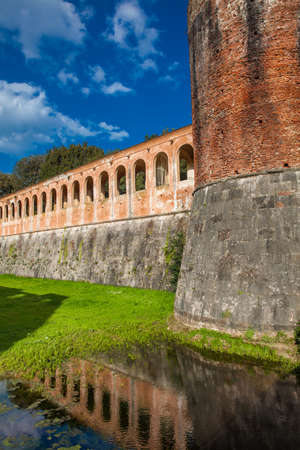 The Cittadella Nuova also called Giardino di Scotto an historical fortress from the 14th century in Pisa