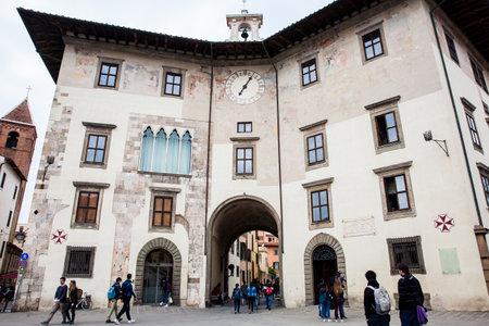 Palazzo dell Orologio also called Torre della Muda or della Fame located at the Knights Square in Pisa and built on the 12th century