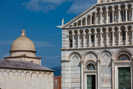 Primatial Metropolitan Cathedral of the Assumption of Mary and the dome of the Monumental Cemetery in Pisa