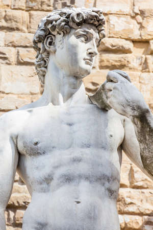 Replica of Statue of David by the Italian artist Michelangelo placed at the Piazza della Signoria in Florence on 1910
