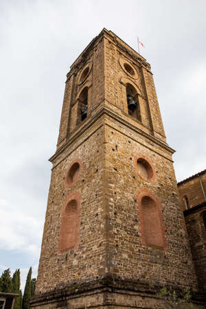 Bell tower of the basilica San Miniato al Monte in Florence