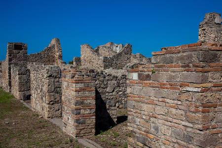 Ruins of the houses of the ancient city of Pompeii