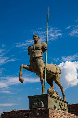 Centaur sculpture by Igor Mitoraj at the Forum in Pompeii Editorial