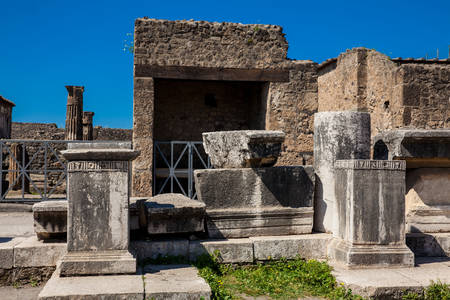 Ruins of the Forum in the ancient city of Pompeii