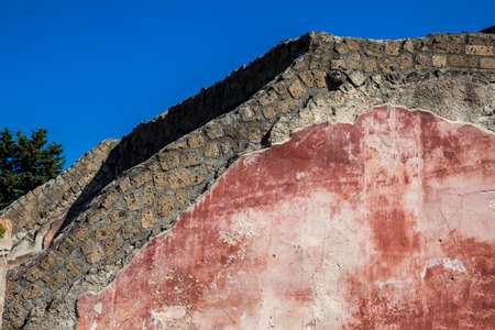 Walls at the Marine Gate on the ancient city of Pompeii