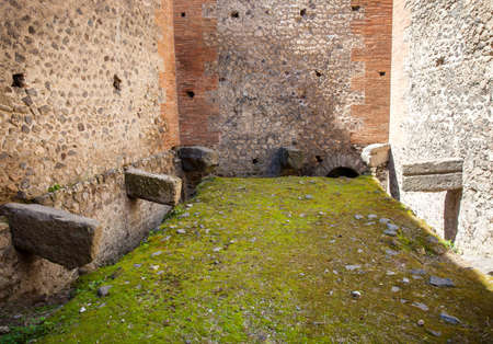Public latrines on the ancient city of Pompeii