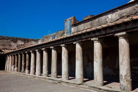 Palaestra at Stabian Baths in the ancient city of Pompeii