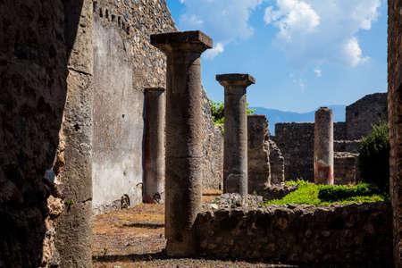 Ruines des maisons de la ville antique de Pompéi