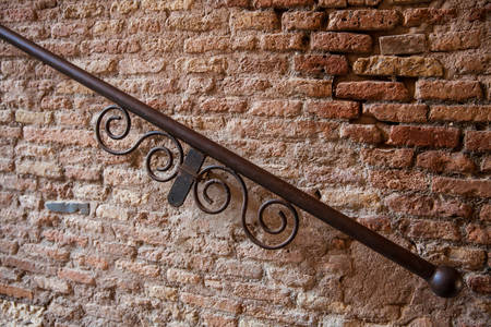 Detail of the railing in the famous Borgia Ascent in the Monti neighborhood of Rome