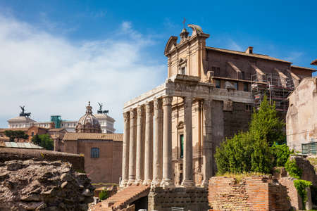 Temple of Antoninus and Faustina at the Roman Forum in Rome Reklamní fotografie