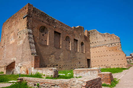 Ancient ruins of the Domus Augustana on Palatine Hill in Rome