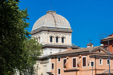 Dome of the Great Synagogue of Rome built on 1904 Zdjęcie Seryjne